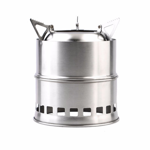 Compact, Lightweight, Portable And Environment-Friendly, Stainless Steel Stove For Use Outdoors