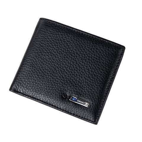 Anti Loss/Anti Theft, Bluetooth(TM), Black-Colored Smart Leather Wallet