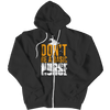 """Don't Be A Basic Nurse"", Black, Zipper Hoodie For Halloween"