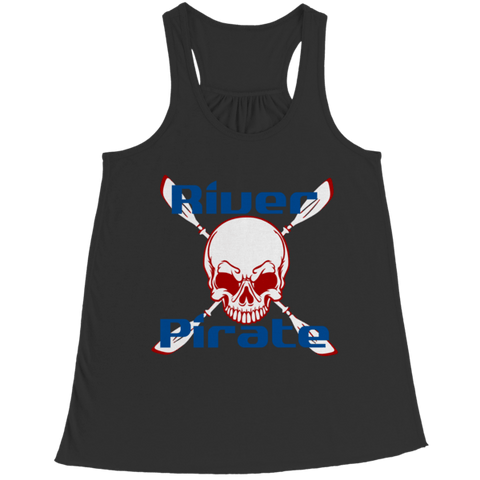 """River Pirate"" Bella Flowy Black Racerback Tank Top"