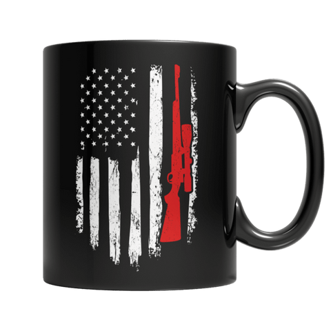"""Hunter Flag"" 11 Oz Black Coffee Mug"