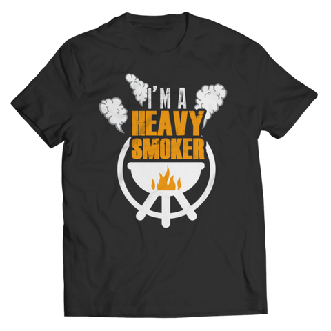 """I'm A Heavy Smoker"" Unisex Black T Shirt"