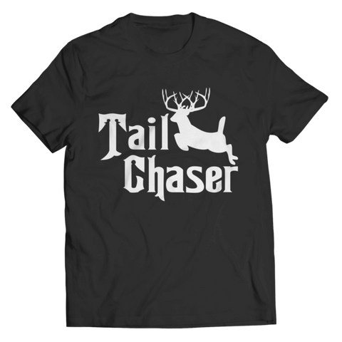 """Tail Chaser"" Unisex Black T Shirt"