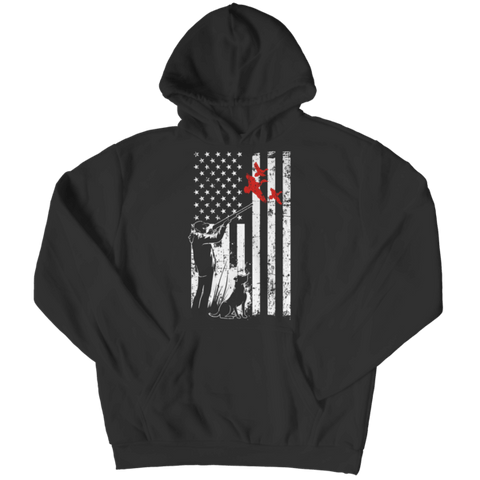 """Duck Hunter Flag"", Black Hoodie"