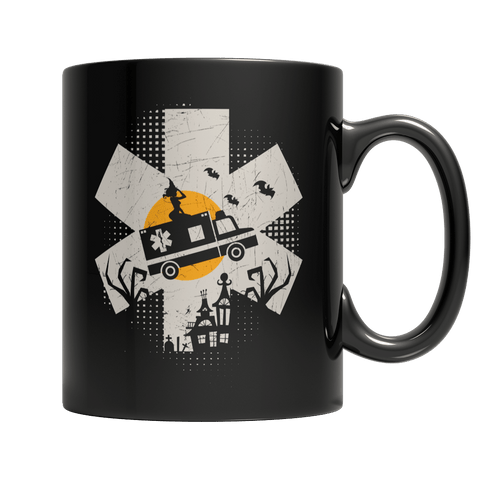 """EMT"", 11 Oz, Black Coffee Mug For Halloween"