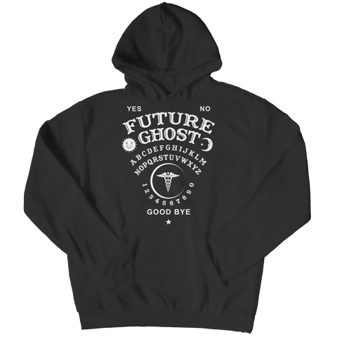 """Future Ghost"", Black Hoodie For Halloween"