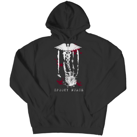 """Spooky Nurse"", Black Hoodie For Halloween"