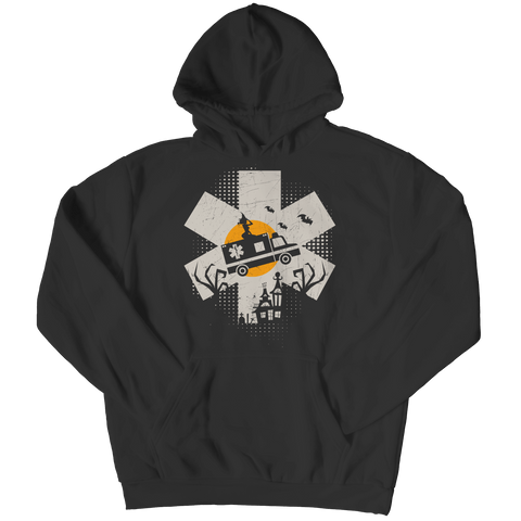 """EMT"", Black Hoodie For Halloween"