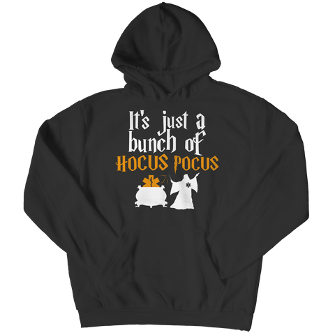 """It's Just A Bunch Of Hocus Pocus"", Black, EMT Hoodie For Halloween"