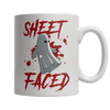 """Sheet Faced"", 11 Oz, White Coffee Mug For Halloween"