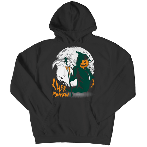 """Killer Pumpkin"" Black Hoodie(V1) For Halloween"