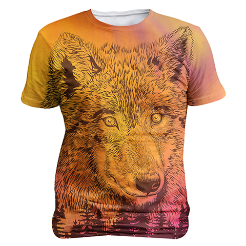 """Mountain Wolf"" Unisex Sublimation T Shirt/Tee"