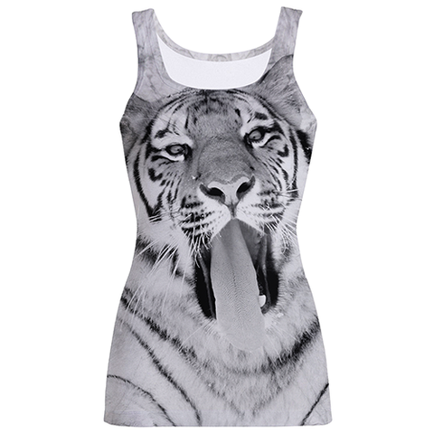 """White And Black Tiger"" Sublimation Tank Top"