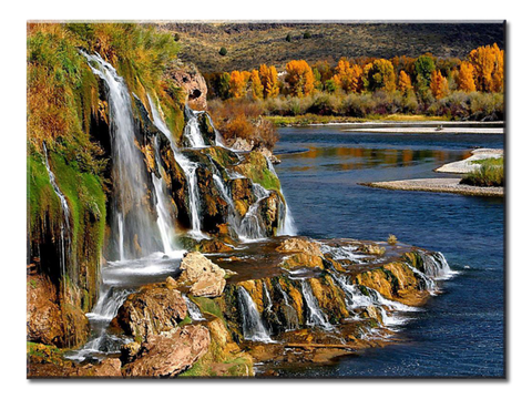 """Waterfalls"", 1 Panel Canvas Wall Art In L And XL Sizes"