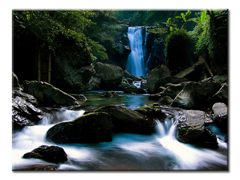 """Waterfall"", 1 Panel Canvas Wall Art In L And XL Sizes"