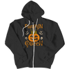 """Pumpkin Queen"", Black Zipper Hoodie(V1) For Halloween"