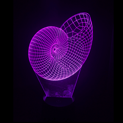Seashell-Shaped, Color-Changing, Acrylic, 3D(TM) L.E.D. Lamp(Purple Color)