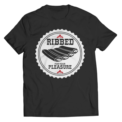 """Ribbed For Your Pleasure"" Unisex Black T Shirt"
