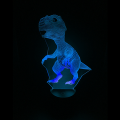 Dinosaur-Shaped Color-Changing Acrylic L.E.D 3D(TM) Lamp(Blue Color)