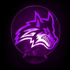 Wolf L.E.D. Lamp(Purple)
