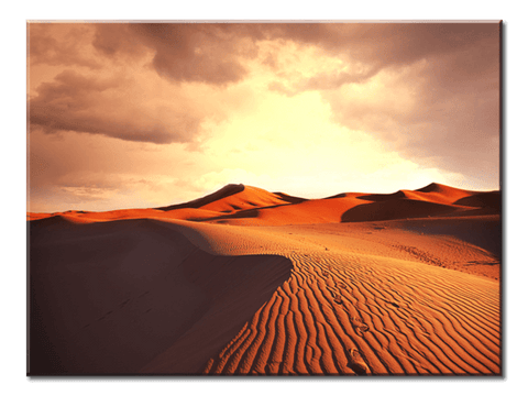 """Sunrise: A Beautiful Desert Landscape"", 1 Panel Canvas Wall Art In L And XL Sizes"