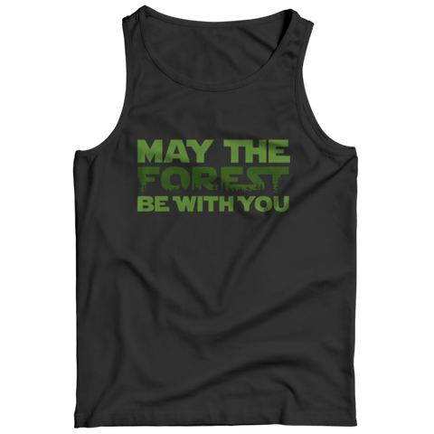 """May The Forest Be With You"" Black Tank Top"