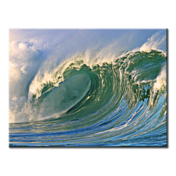 """Raging Waves"", 1 Panel Canvas Wall Art In L And XL Sizes"