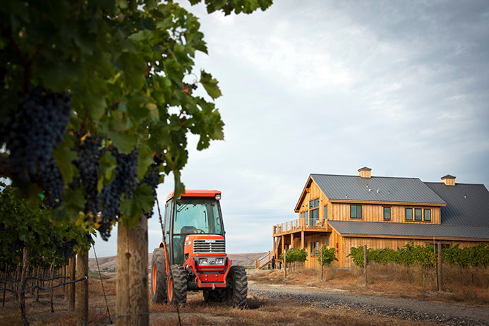 Tractor by Vineyard