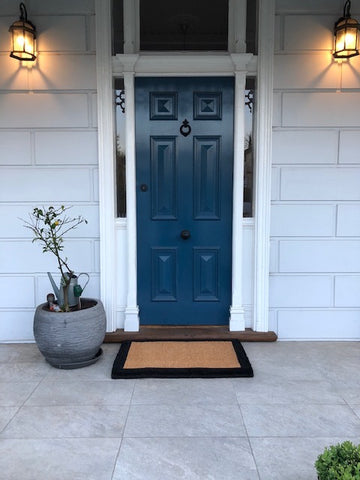 Black Bordered Doormats