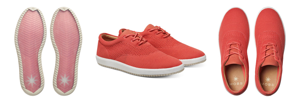 MOBS Design Rue Knit Sneaker Coral