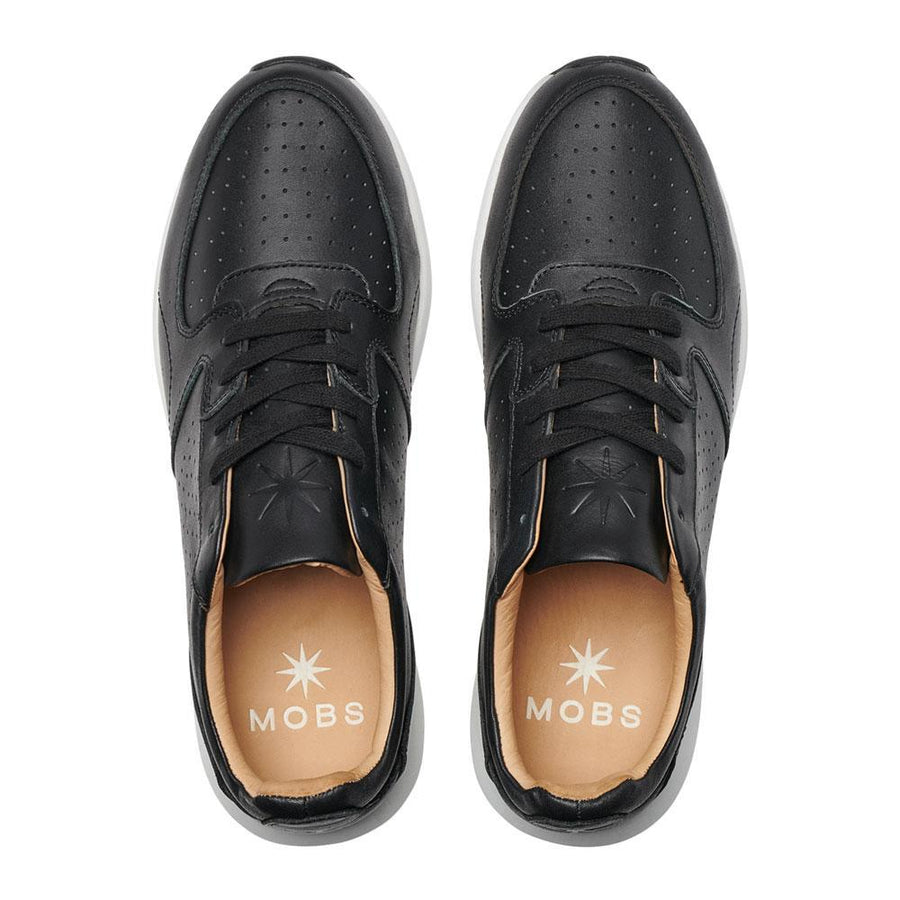 MOBS Grid Premier Shoe Noir/Nomad Leather Top View