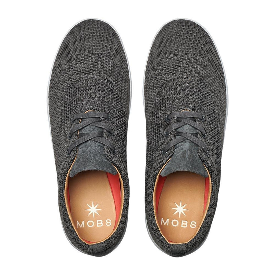 Men's MOBS Knit Low Shoe Rue Bloc Grey/Nubuck Top View