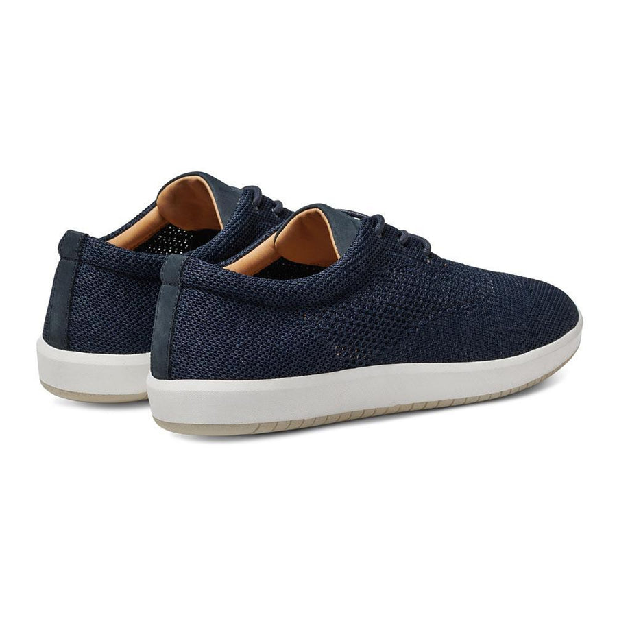 Men's MOBS Knit Low Shoe Rue Marine Heel Angle View