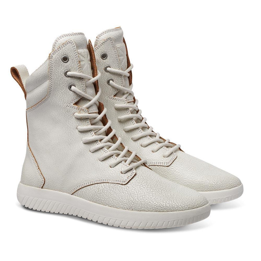 Tread Boot // White/Crackle Leather // Women / 40% OFF - MOBS Shoes