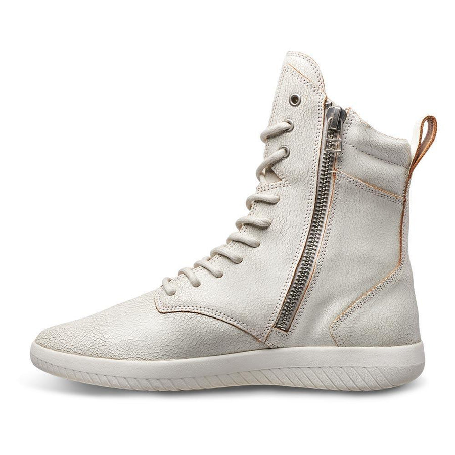 Tread Boot // White/Crackle Leather // Women - MOBS Shoes