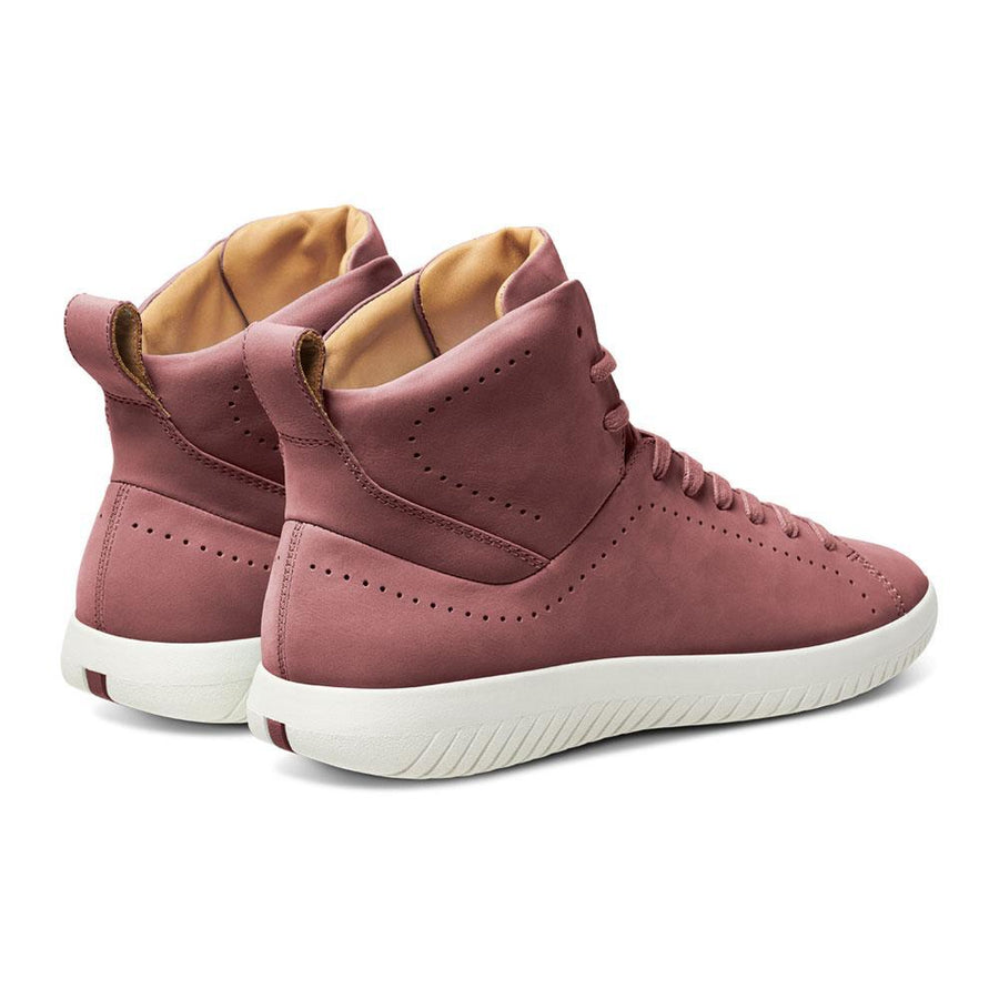 Men's MOBS Tread High Shoe Dusty Rose/Nubuck Leather Heel Angle View