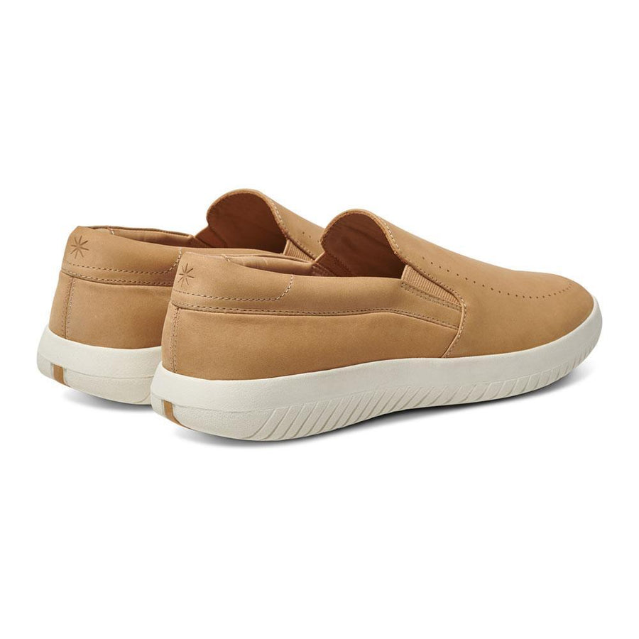 Women's MOBS Tread Slip On Shoe Dusty Beige/Nubuck Heel Angle View
