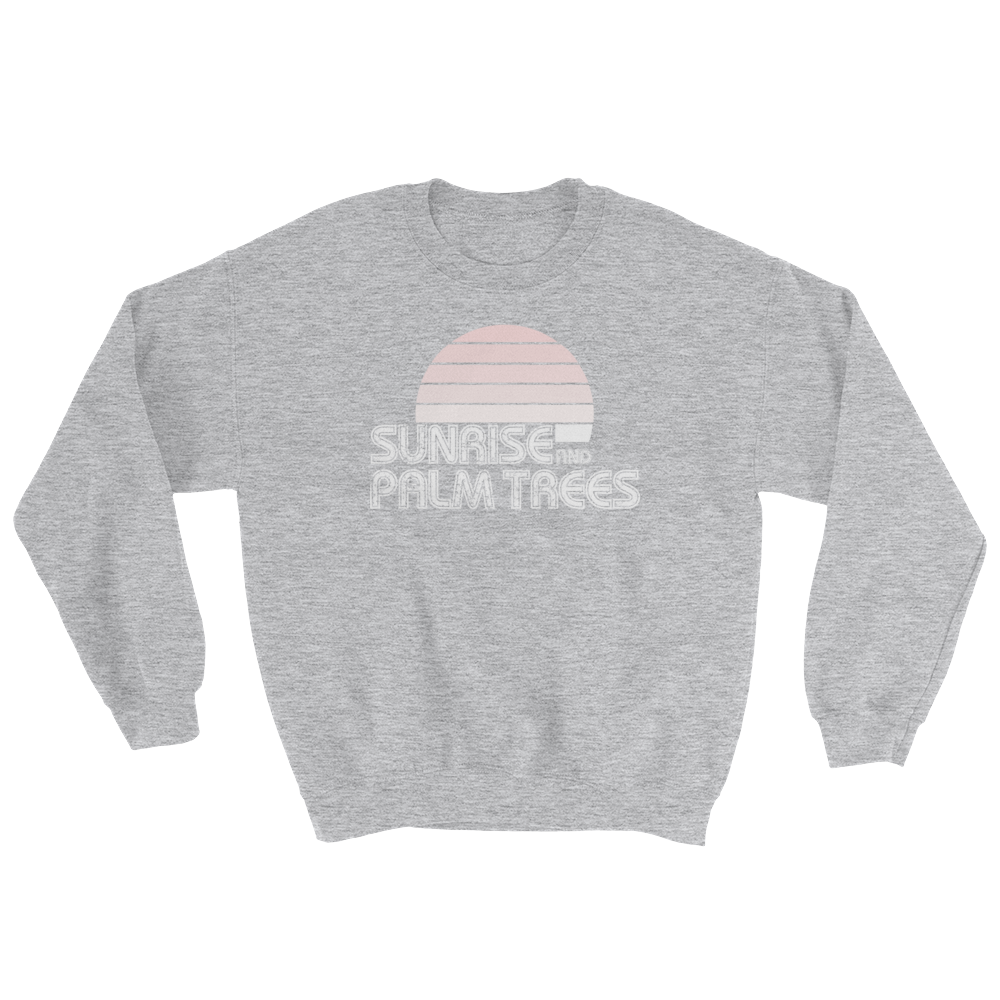 Sunrise & Palm Trees Crew Sweatshirt