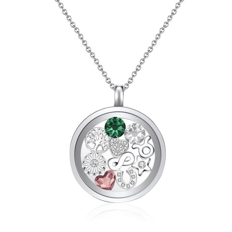 Poppy Floating Charm Necklace