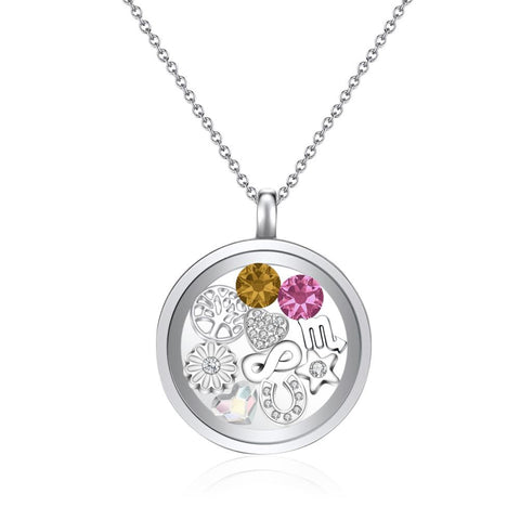 Chrysanthemum floating charm necklace mestige chrysanthemum floating charm necklace chrysanthemum floating charm necklace mozeypictures Images