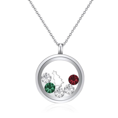 Seasons Greetings Floating Charm Necklace