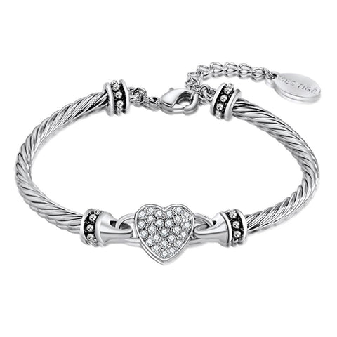 Crystal Lovedust Cable Bracelet