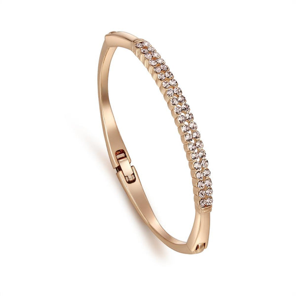 Rose Twin Roads Bracelet in Rose Gold