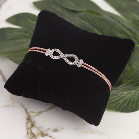 Infinity Friendship Bracelet in Rose Gold