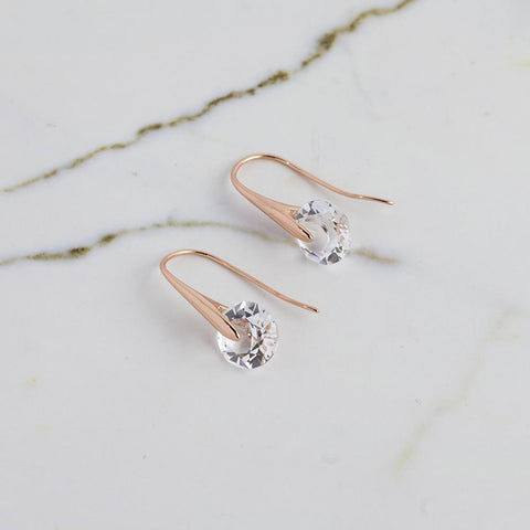 Rose Gold Eclipse Earrings
