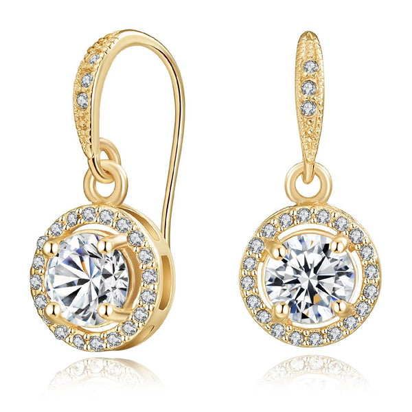 Crystal Liberty Earrings In Gold