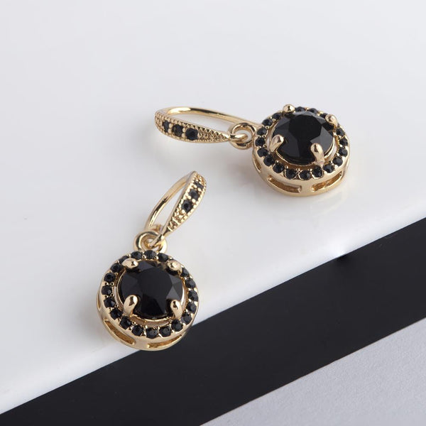 Black Liberty Earrings in Gold