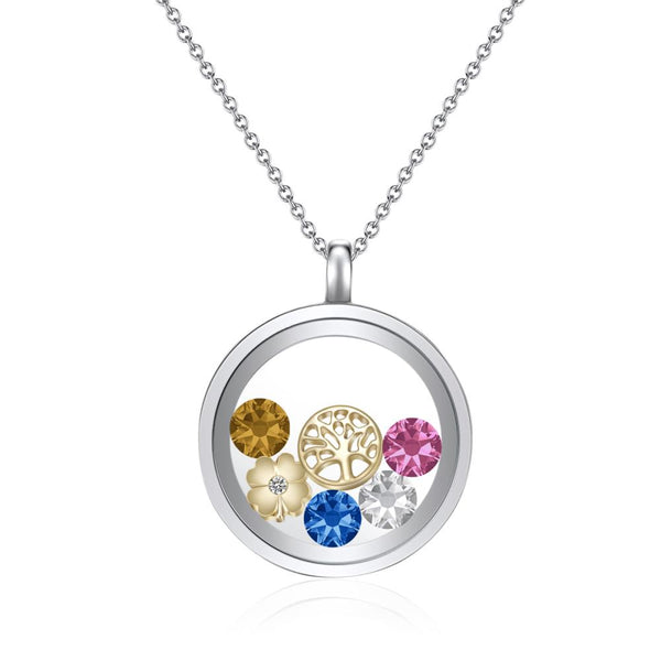 Tree Of Life in Gold Floating Charm Locket