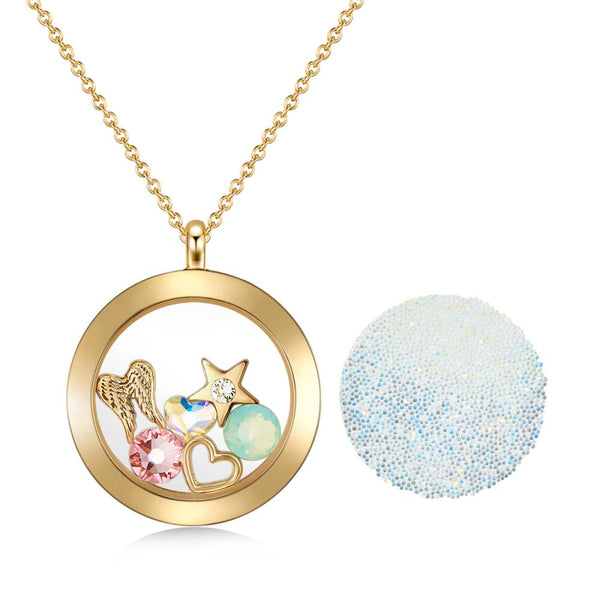 Gold Guardian Floating Charm Necklace