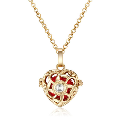Gold Devotion Heart Necklace